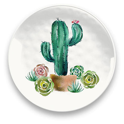 S/6 Sewell Salad Plates, White/Multi