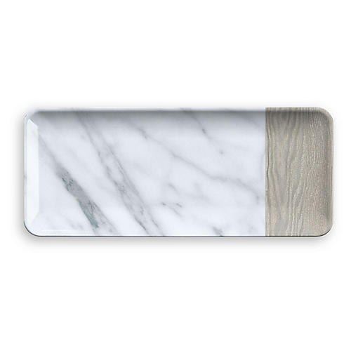 Zanna Serving Platter, Gray