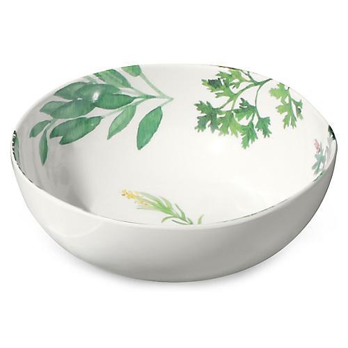 S/6 Garden Herbs Melamine Bowls, Green