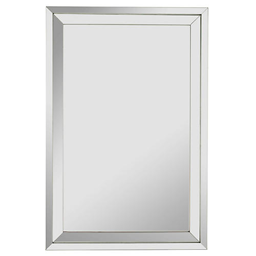Connell Wall Mirror, Mirror/Silver