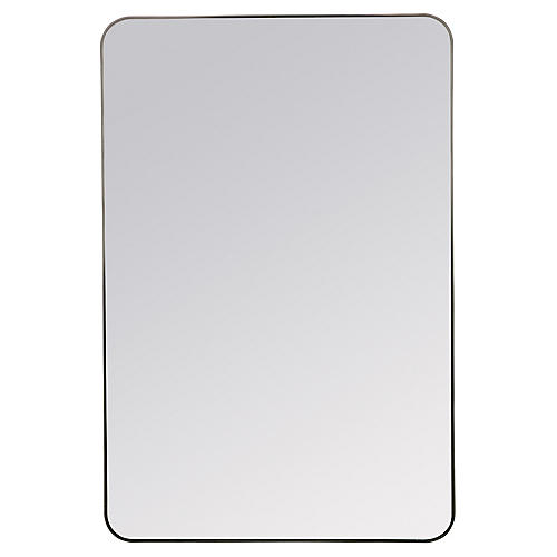 Franco Wall Mirror, Matte Black