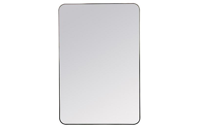 Franco Wall Mirror, Matte Black