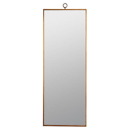 Leona Leaning Floor Mirror, Gold