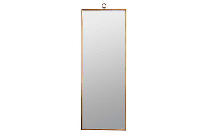 Leona Leaning Floor Mirror, Gold
