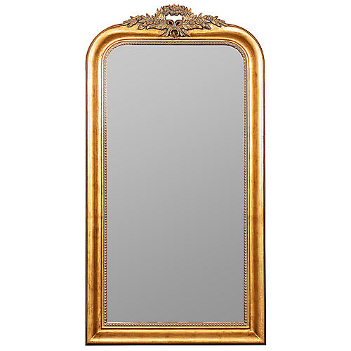 Stacy Floor Mirror, Gold Finish