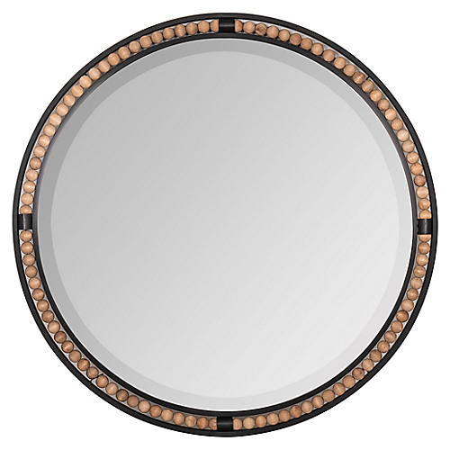 Stassi Wall Mirror, Natural/Black