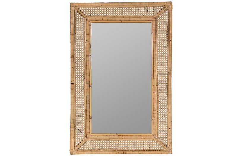 Jameson Rattan Wall Mirror, Brown