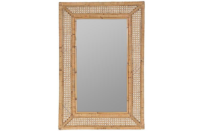 Jameson Rattan Wall Mirror, Natural