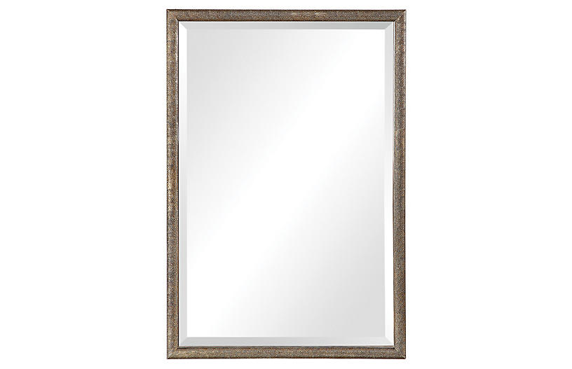 Barree Wall Mirror, Antiqued Gold