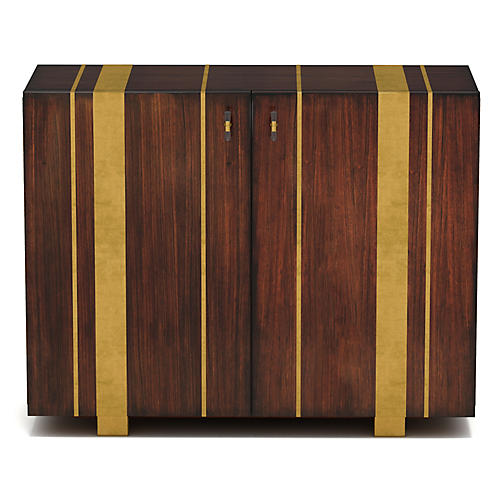Skippy Cabinet, Brown/Gold