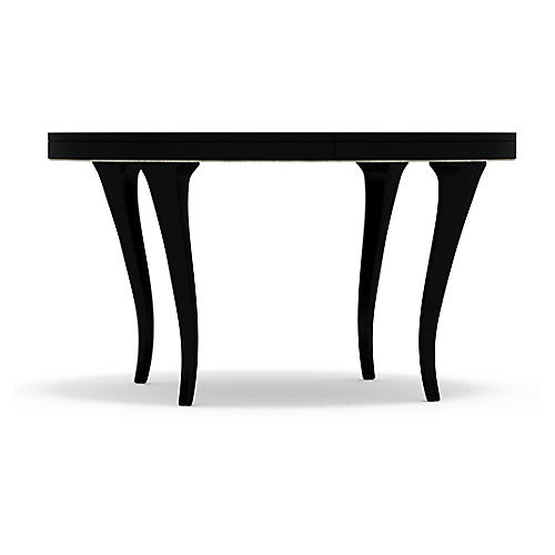 Bloom Round Dining Table, Black