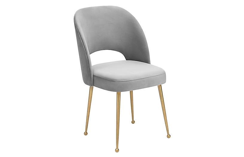 Lennon Side Chair, Light Gray
