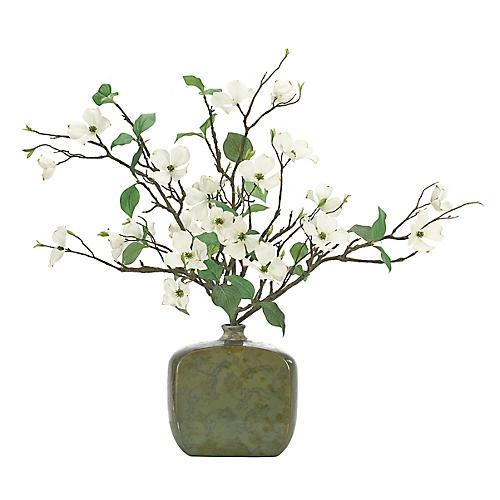 "32"" Dogwood Branch in Vase, Faux"