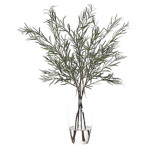 "29"" Willow Branch in Jar, Faux"