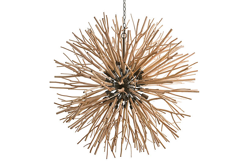 Finch Chandelier, Natural