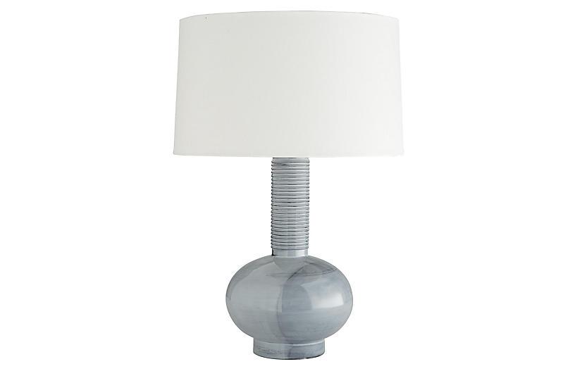 Nakoma Table Lamp, Haze Blue Reactive Glaze