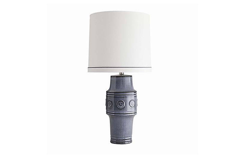 Adelaide Table Lamp, Shadow Blue Reactive Glaze