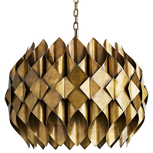 Roissy Pendant, Antiqued Brass