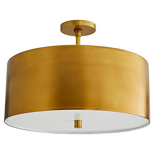 Trabell Semi-Flush, Antiqued Brass