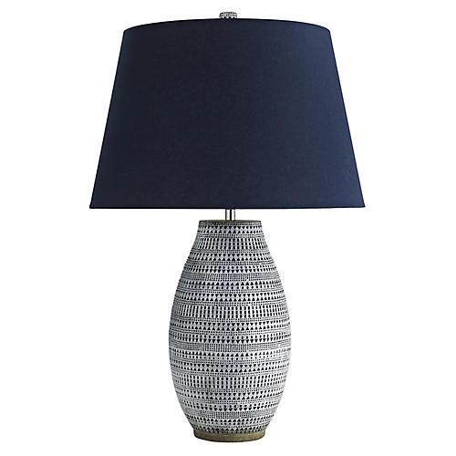 Shawnee Table Lamp, Admiral Blue