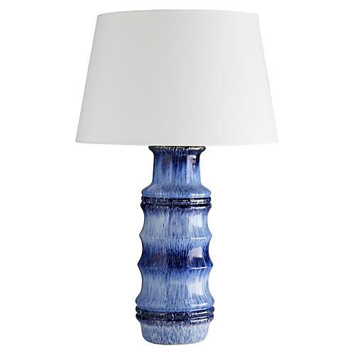 Radcliff Table Lamp, Lapis Ombré