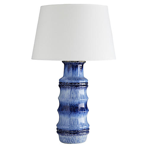 Radcliff Table Lamp, Lapis Ombré