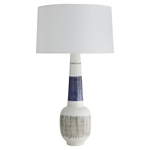 Cecilia Table Lamp, Blue