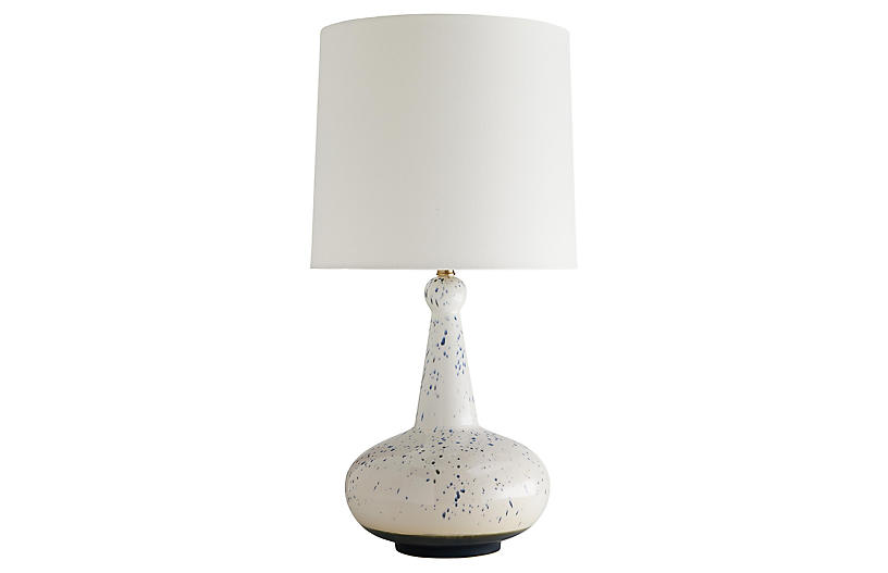 Ulric Table Lamp, White