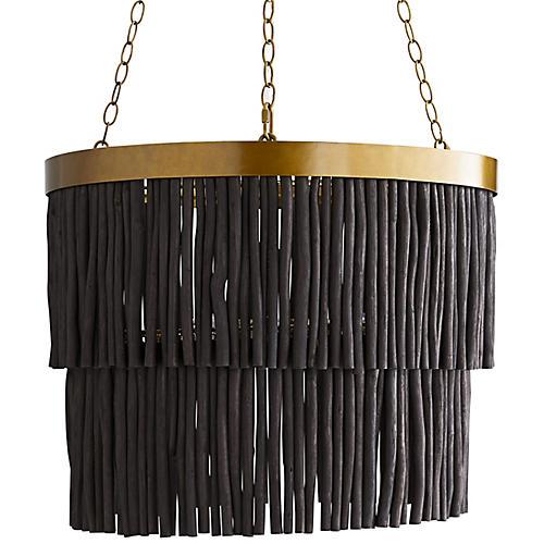 Arya Pendant, Antiqued Brass