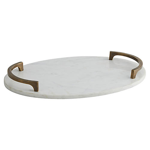 Collie Tray, White
