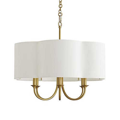 Rittenhouse Chandelier, Antiqued Brass