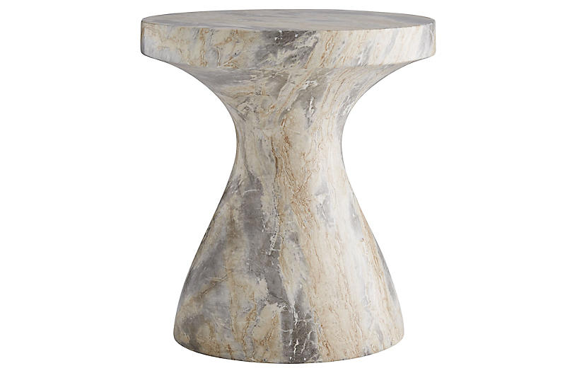 Serafina accent table, Ivory