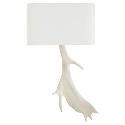 Jackson Right Sconce, White
