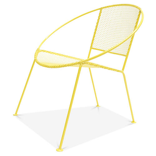 Ixtapa Lounge Chair, Yellow