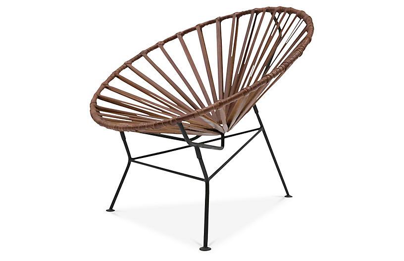 Sayulita Lounge Chair, Tobacco Leather
