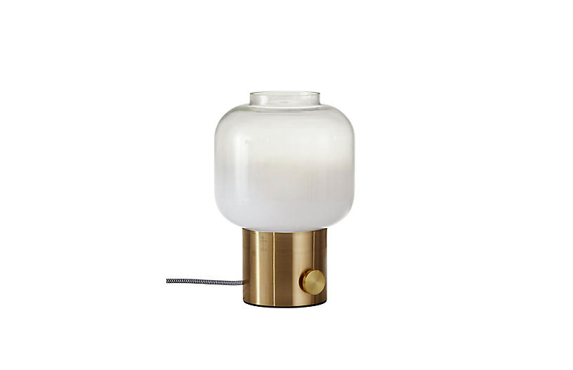Ezra Table Lamp, Antique Brass