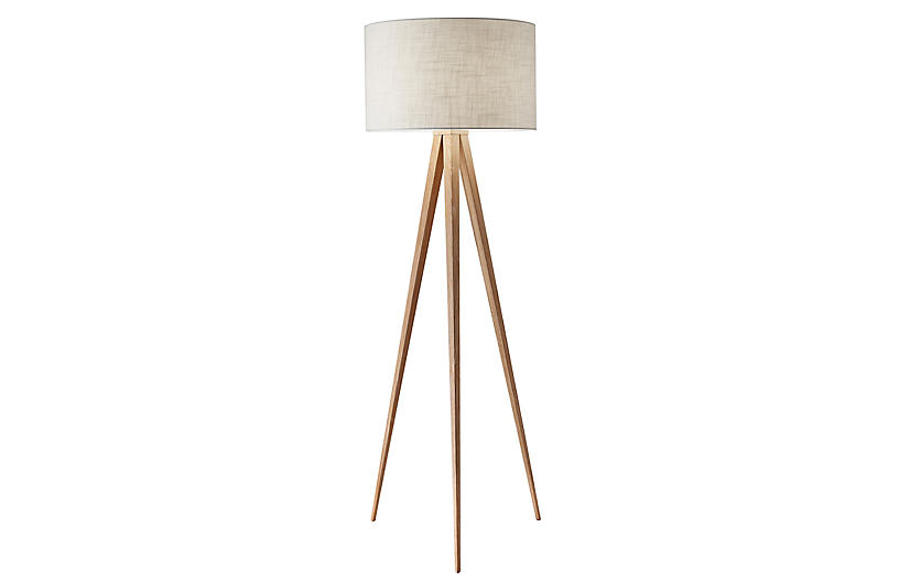 Dayle Tripod Floor Lamp, Natural