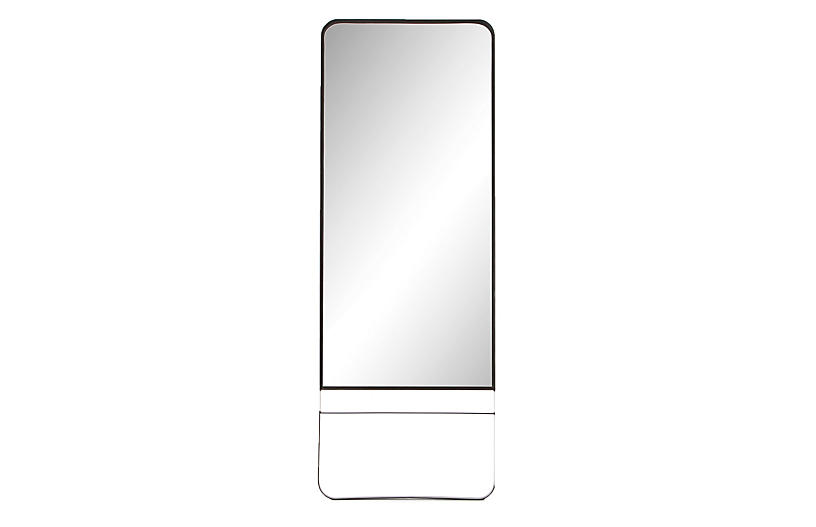 Amelia Floor Mirror, Black