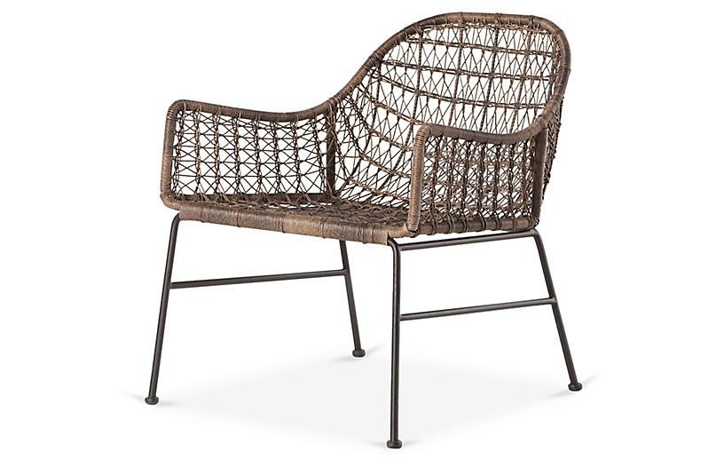 Dylan Outdoor Club Chair, Dark Brown