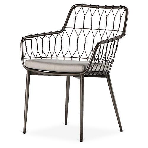 Kade Outdoor Dining Chair, Gray