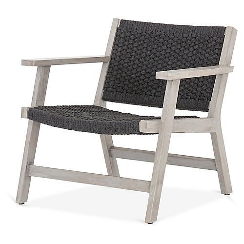 Delano Outdoor Chair, Gray