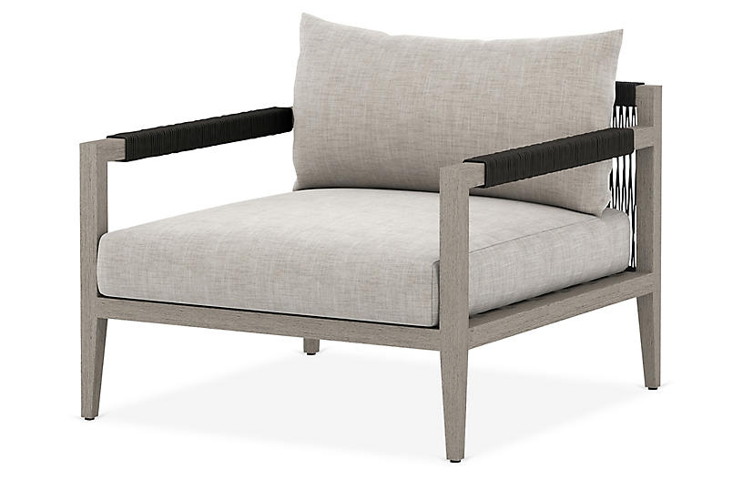 Nixon Outdoor Chair, Gray/Stone Gray