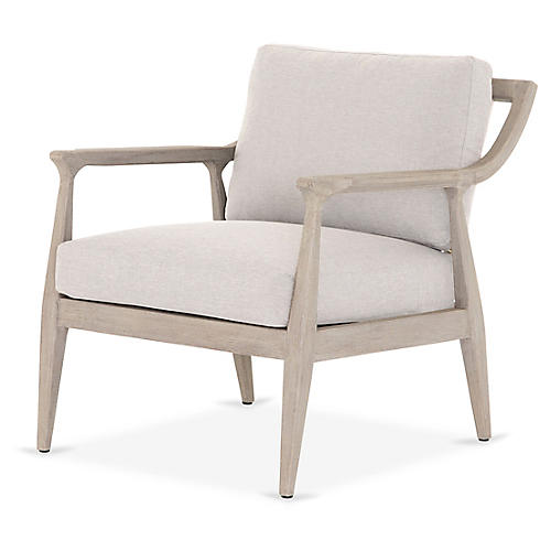 Elam Outdoor Chair, Gray/Stone Gray