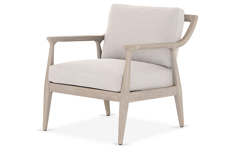 Nolan Outdoor Chair, Gray/Stone Gray