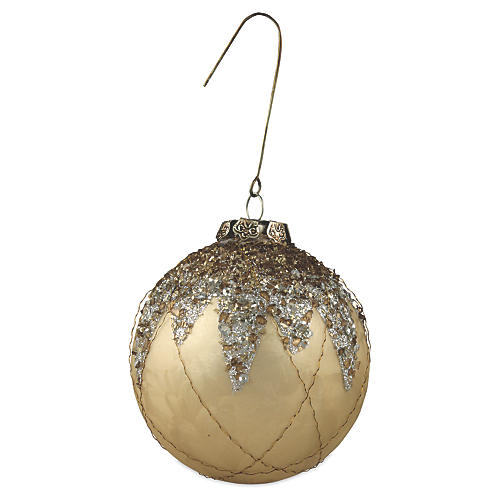 "3"" Elegant Ball Ornament, Gold"