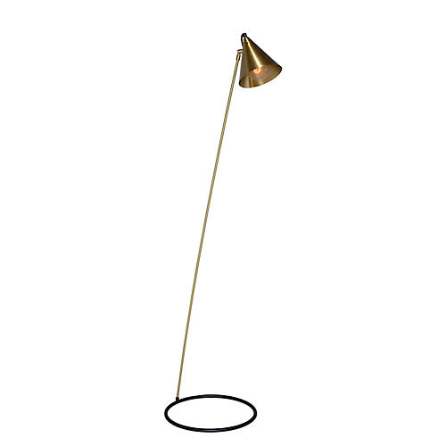 Peyton Floor Lamp, Brass/Black