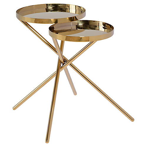 Olivia Side Table, Gold