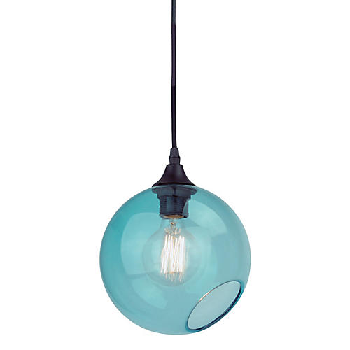 Sherrill Pendant, Blue/Black