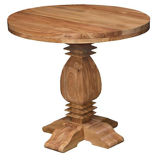 Tuscan Teak Round Dining Table, Natural