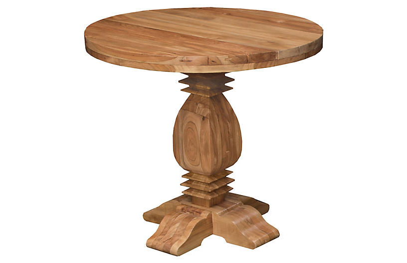 Tuscan Teak Round Dining Table Natural